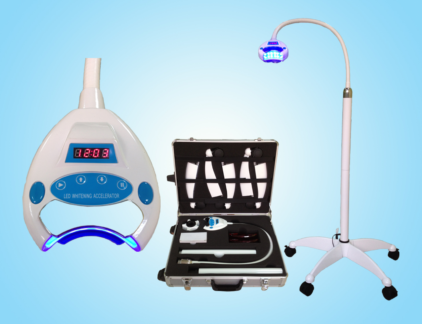 Dental Movable Teeth Whitening Cold Blue Light Lamp Machine Bleaching System